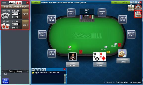 william hill poker backbet