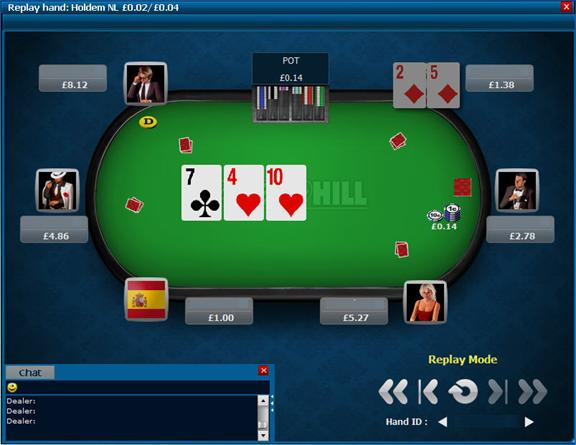william hill poker replayer
