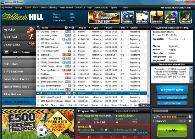 william hill poker bonus
