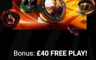 partypoker Bonus Code for £40 Free Play Bonus